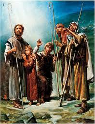 Shepherds in the field
